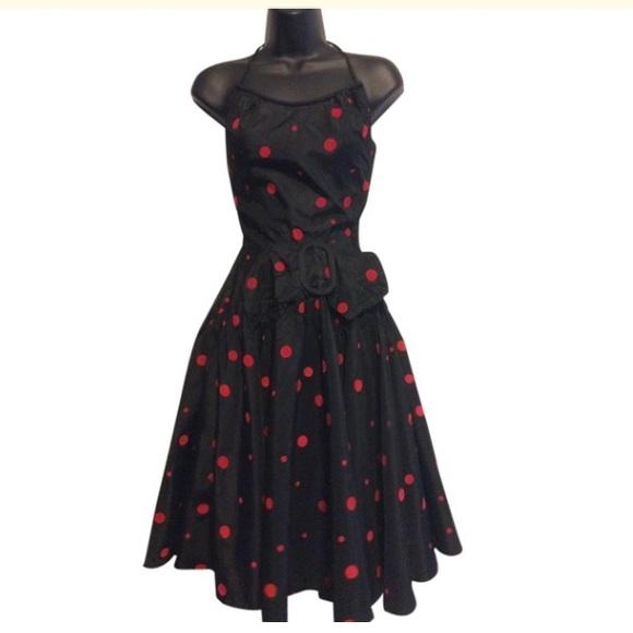 Vintage Dresses & Skirts - Vintage 1950's Polka Dot Dress